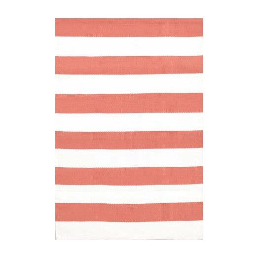Dash and albert rugs catamaran red white striped indoor for Red and white striped area rug
