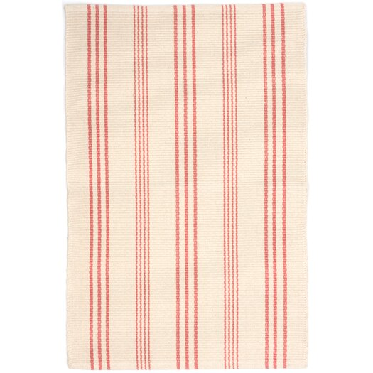 Dash and albert rugs skona stripe woven cotton ivory for Dash and albert blankets