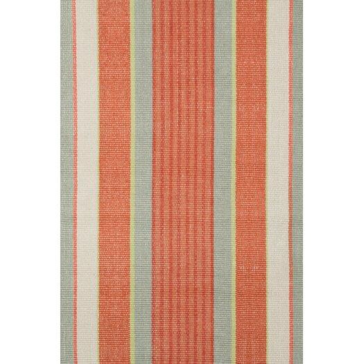 Dash and albert rugs woven orange autumn stripe area rug for Dash and albert blankets