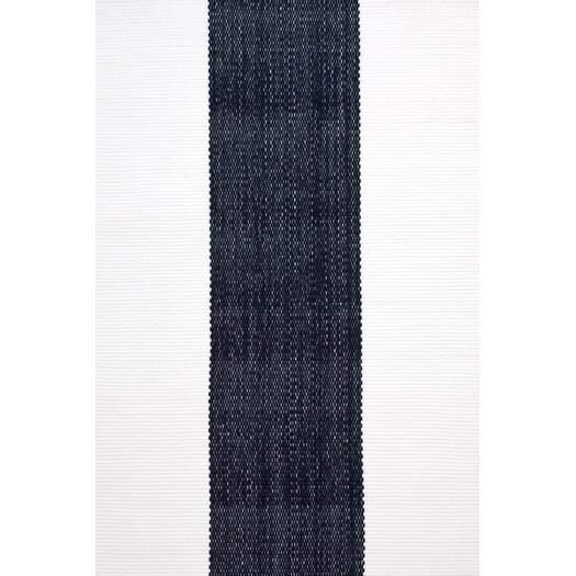 Dash and Albert Rugs Woven Lakehouse Navy Indoor/Outdoor Area Rug