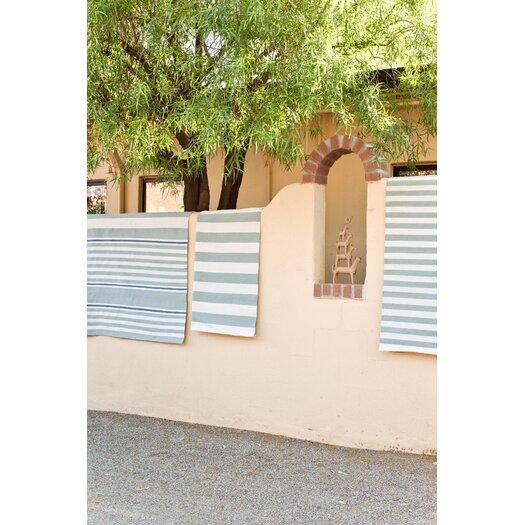 Dash and Albert Rugs Indoor/Outdoor Beckham Blue Striped Outdoor Area Rug