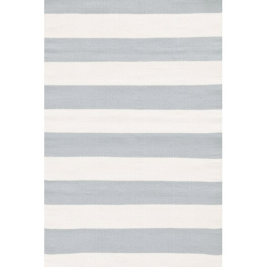 Dash and albert rugs blue ivory striped indoor outdoor for Dash and albert blankets