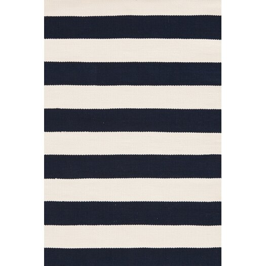 Chic Indoor Outdoor Stripe Rugs 6 Colors Available: Dash And Albert Rugs Catamaran Ivory & Navy Striped Area