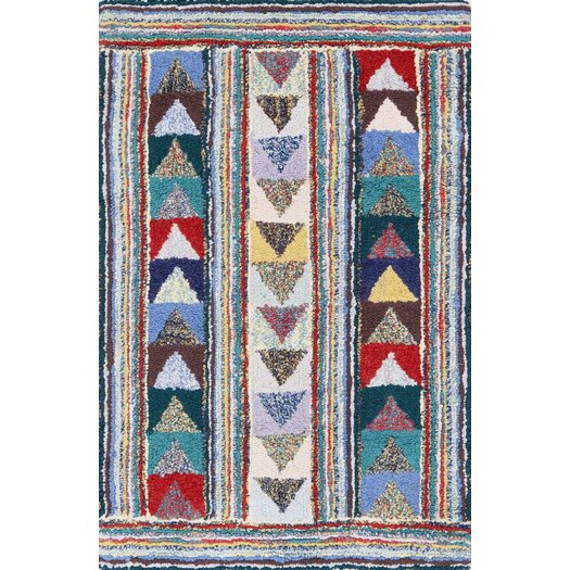 Dash and albert rugs cotton hooked follow the arrows rug for Dash and albert blankets