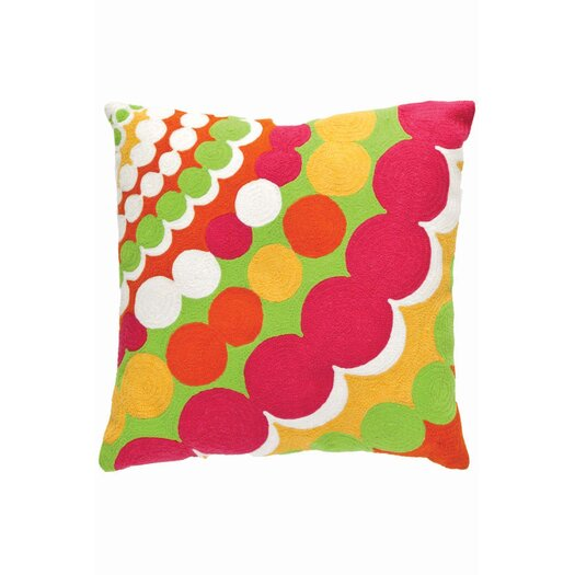 Dash and Albert Rugs Fresh American Bubbles Throw Pillow