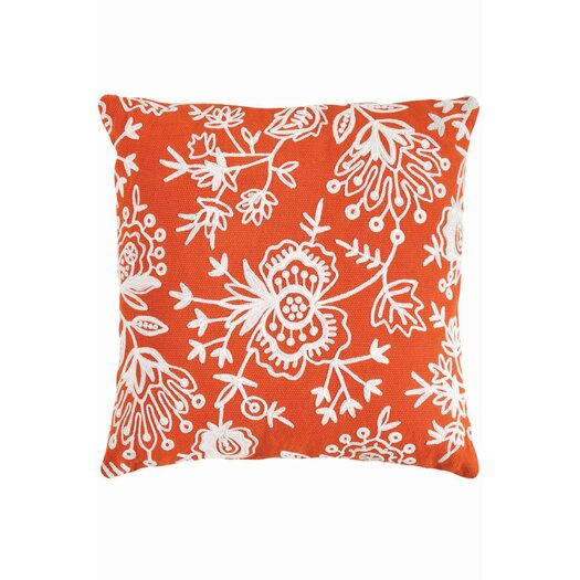 Dash and Albert Rugs Fresh American Floral Indoor/Outdoor Throw Pillow