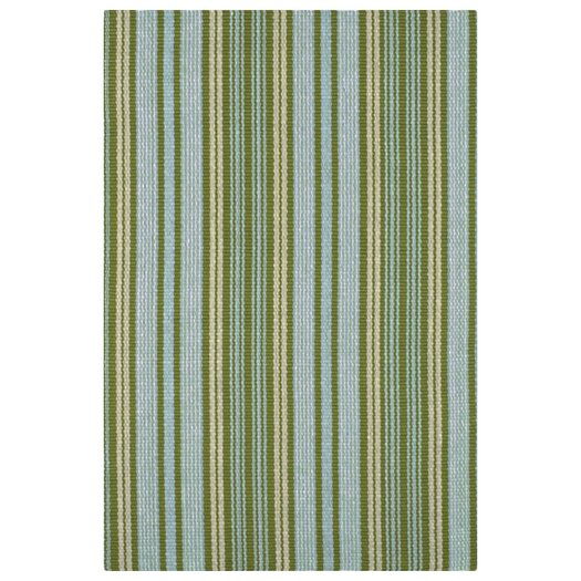 Dash and Albert Rugs Woven Green Caravan Stripe Indoor Area Rug