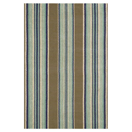 Dash and Albert Rugs Flat Woven Blue Area Rug