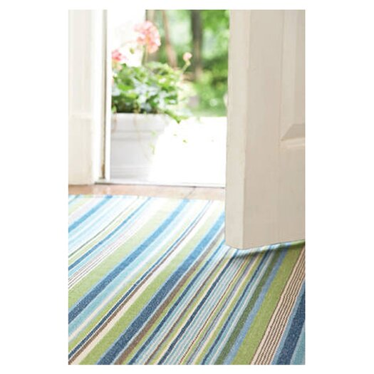 Dash and Albert Rugs Woven Fisher Ticking Area Rug