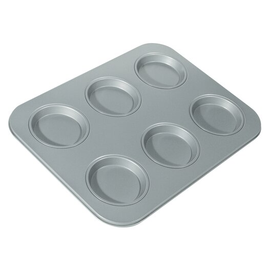 Fox Run Craftsmen Non-Stick 6 Cup Large Shallow Muffin Pan