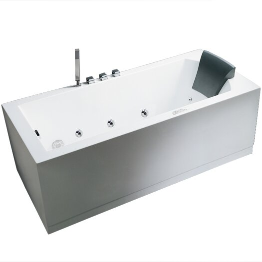 """Ariel Bath Platinum 59"""" x 31.5"""" Whirlpool Bathtub"""