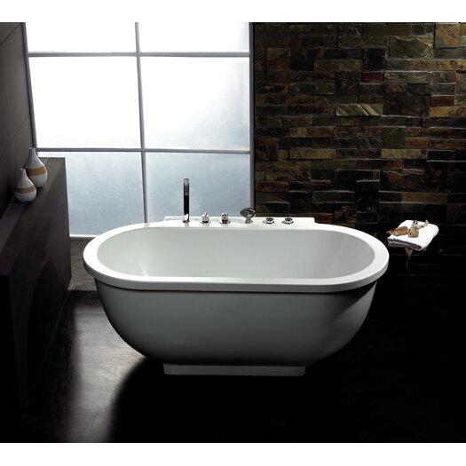 """Ariel Bath 71"""" x 37"""" Whirlpool Bathtub"""