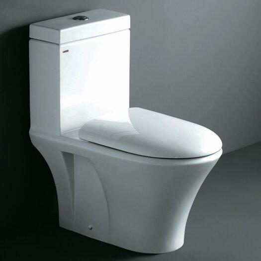 Ariel Bath Milano Contemporary Elongated 1 Piece Toilet with Dual Flush