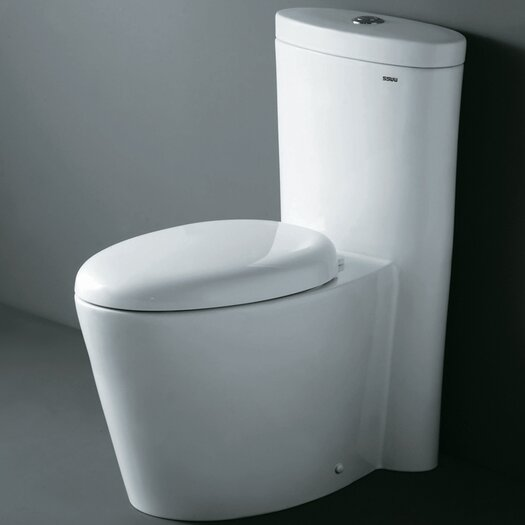 Monterey Contemporary Elongated 1 Piece Toilet with Dual Flush Product Photo