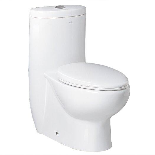 Ariel Bath Hermes Contemporary Elongated 1 Piece Toilet