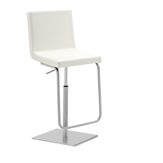Domitalia Afro Adjustable Height Swivel Bar Stool with Cushion
