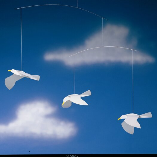 Flensted Mobiles Soaring Seagulls Mobile