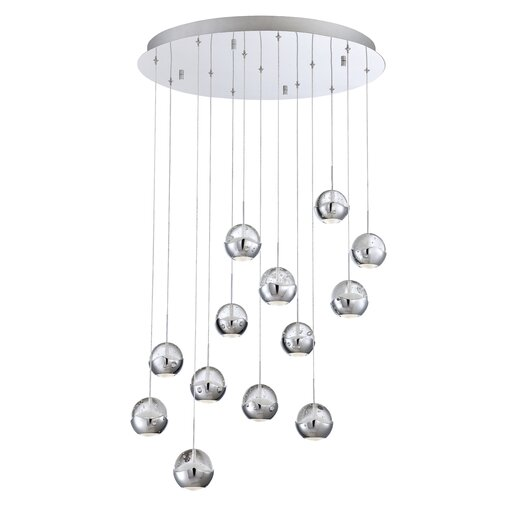 Eurofase Ice 13 Light Cascade Pendant