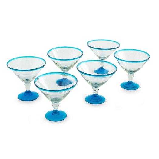 Novica The Javier and Efren Martini Glass