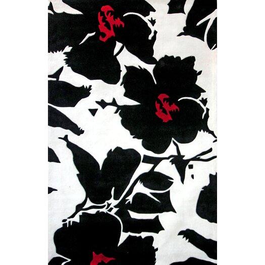 Nuloom Black And White Rug: NuLOOM Pop Amore Black & White Area Rug