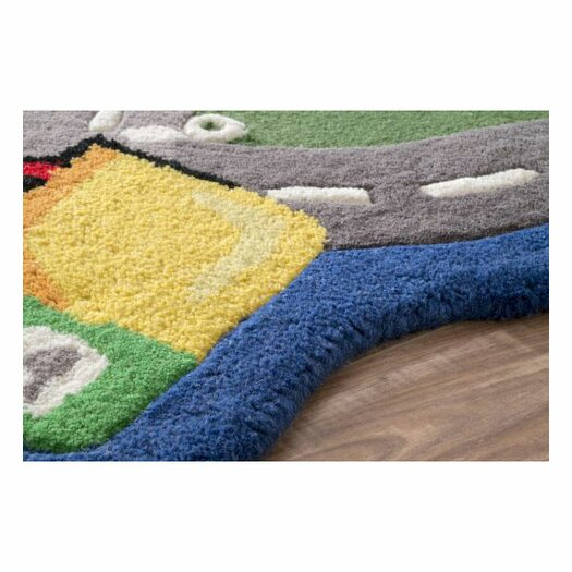 nuLOOM Kinder Traffic Time Green Area Rug