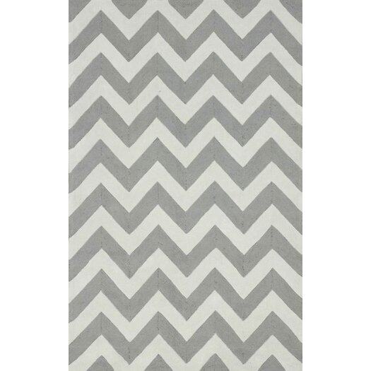 Nuloom Homestead Soft Gray Meredith Chevron Area Rug