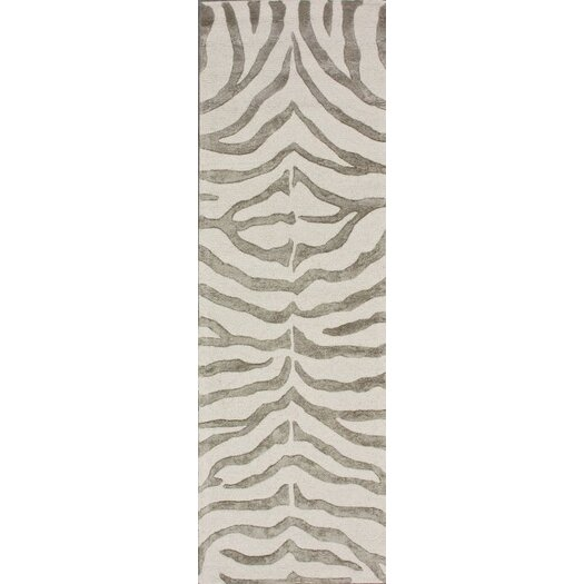 nuLOOM Earth Safari Zebra Grey Area Rug