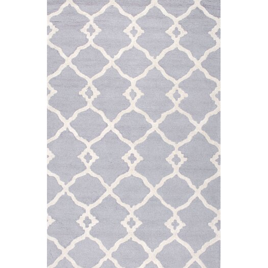 nuLOOM Moderna Light Grey Lydia Trellis Area Rug