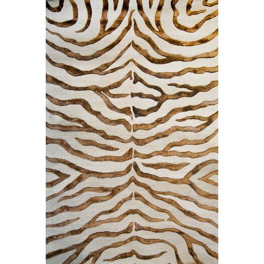 nuLOOM Earth Safari Zebra Print with Faux Silk Highlights Area Rug