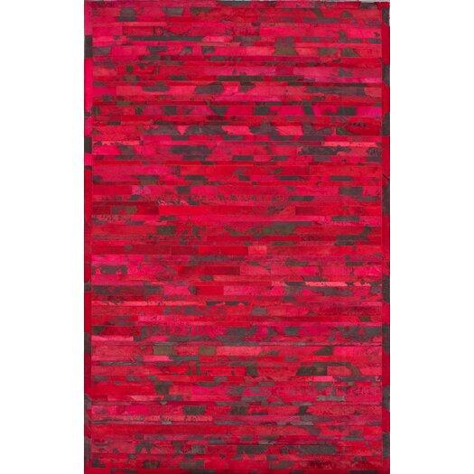 nuLOOM Hudson Red Chevron Area Rug