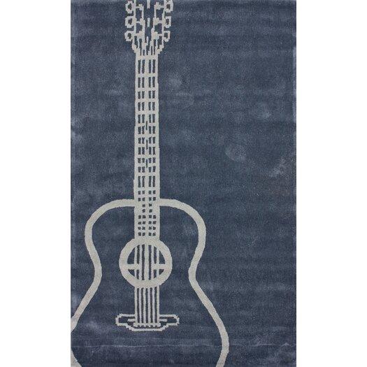 nuLOOM Cine Gray Guitar Novelty Outdoor Area Rug