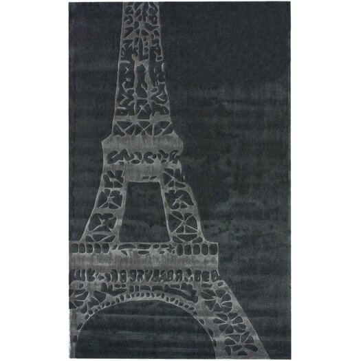 nuLOOM Cine Eiffel Gray Novelty Area Rug