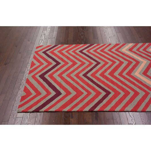 nuLOOM Cine Fire Chevron Area Rug