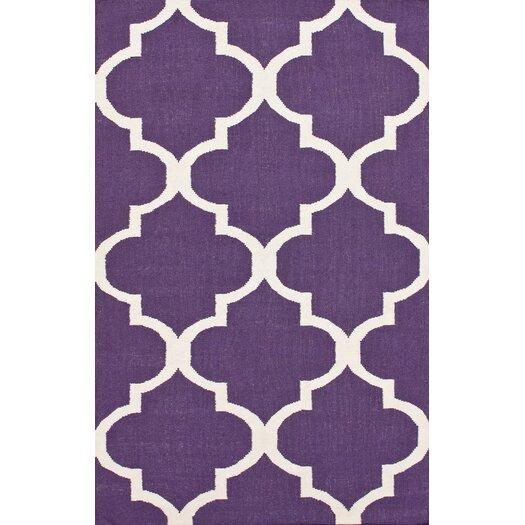 nuLOOM Marbella Moroccan Trellis Purple Kilim Rug