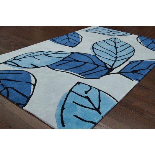 nuLOOM Cine Blue Autumn Rug