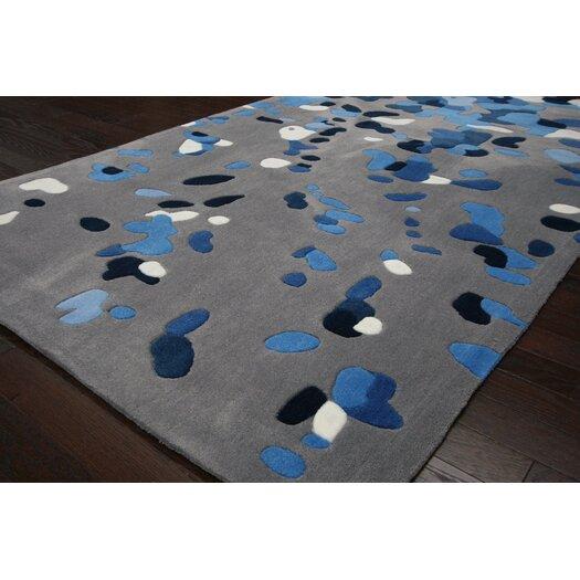 nuLOOM Cine Grey / Blue Splatter Rug