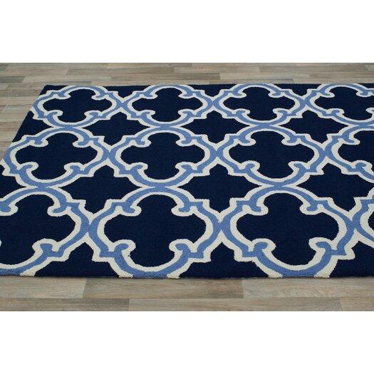 nuloom trellis navy white area rug allmodern. Black Bedroom Furniture Sets. Home Design Ideas