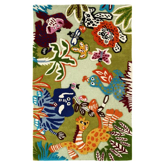 nuLOOM Kinder Zoo Animals Area Rug