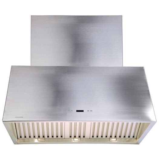 "Cavaliere 42"" 900 CFM Ductless Wall Mount Range Hood in Stainless Steel"