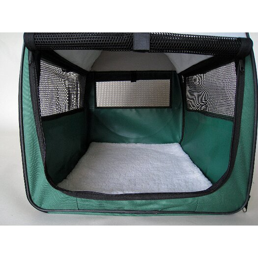 Go Pet Club Soft Sided Pet Crate with Sheepskin Mat