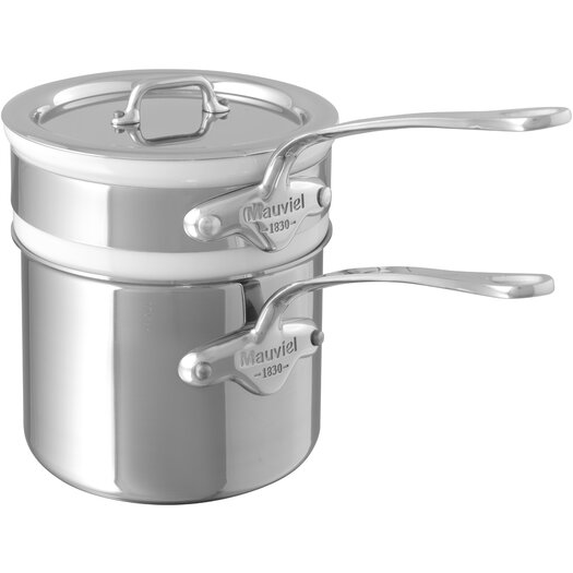 Mauviel M'cook 1.6-qt. Double Boiler with Lid
