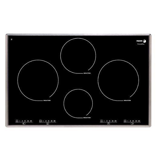 """Fagor 31.13"""" Electric Induction Cooktop with 4 Burners"""