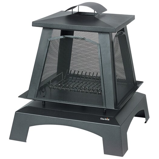Char-Broil Trentino Deluxe Outdoor Fireplace with Removable Screens
