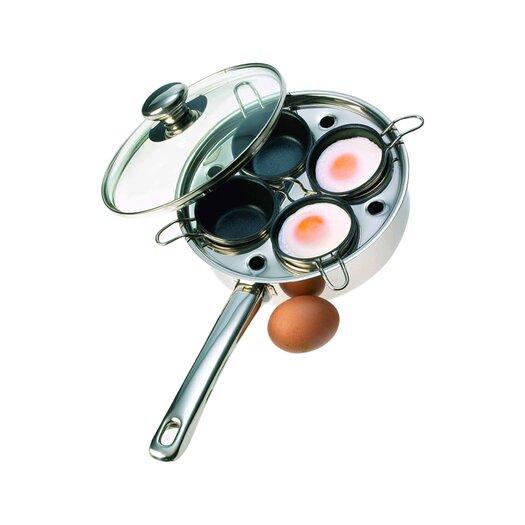 Demeyere Resto 4 Cup Stainless Steel Egg Poacher Set