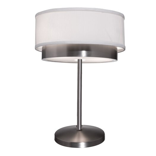 """Artcraft Lighting Scandia 19"""" H Table Lamp with Drum Shade"""
