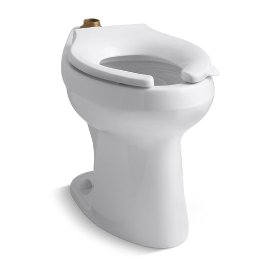 Highline 1.6 or 1.28 GPF Flushometer Valve Comfort Height Ada Elongated Toilet Bowl with Bedpan Lugs, Requires Seat Product Photo