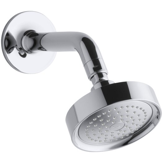 Kohler Purist 2.5 GPM Single-Function Wall-Mount Shower Head with Arm and Flange