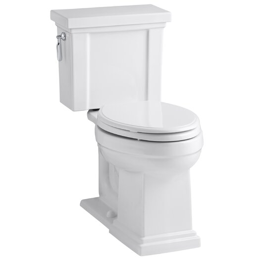 Tresham Comfort Height 2 Piece Elongated 1.28 GPF Toilet with Aquapiston Flush Technology and Left-Hand Trip Lever Product Photo