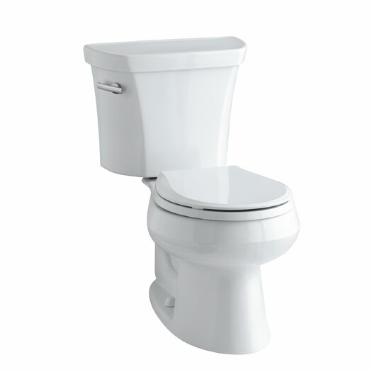 Wellworth Two-Piece Round-Front 1.28 GPF Toilet with Class Five Flush Technology, Left-Hand Trip Lever and Tank Cover... Product Photo