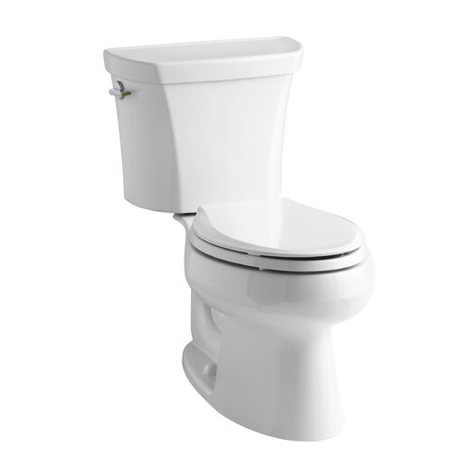 Wellworth Two-Piece Elongated Dual-Flush Toilet with Left-Hand Trip Lever Product Photo